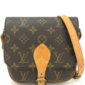 💯Auth Louis Vuitton Cartouchiere PM CrossBody Bag